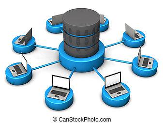 computadoras portátiles, base de datos