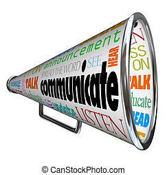Comuníquese con el megáfono de megáfono