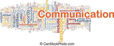 comunicación, concepto, plano de fondo