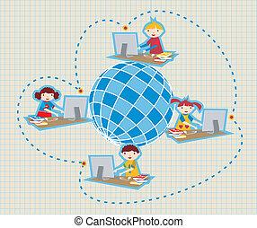 Comunicación de la cadena social mundial