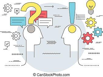 Comunicación de negocios y concepto de asesoramiento experto