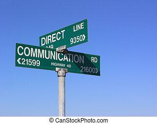 comunicación, directo