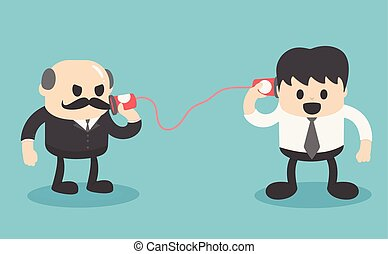 Comunicación entre gente de negocios