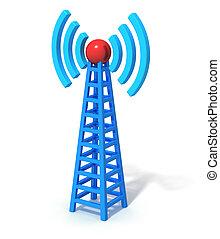 comunicación inalámbrica, torre