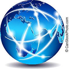 Comunicación mundial de comercio global