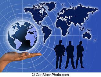 Comunicación mundial de negocios