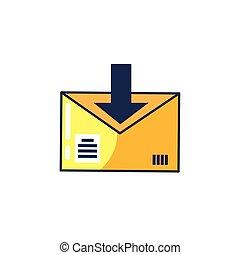 Comunicación por correo con flecha
