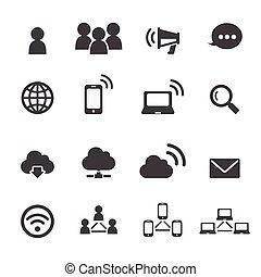 Comunicación y icono de la red