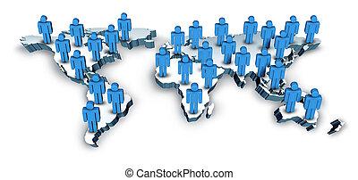 Comunicaciones globales con un mapa mundial