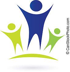 Comunidad, adultos y niños