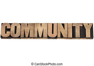 Comunidad en madera