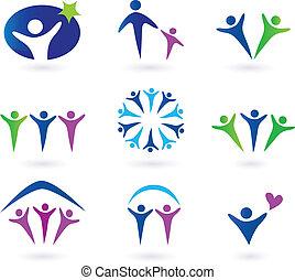 Comunidad, red y iconos sociales