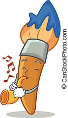 Con dibujos animados de pincel de trompeta