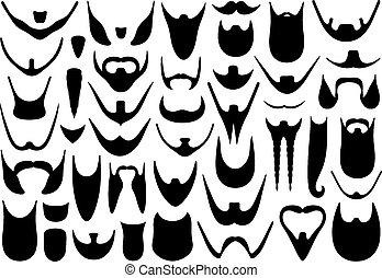 Con diferentes barbas