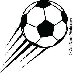 Con pelota de fútbol Vector