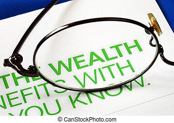 Concéntrate en el crecimiento de la riqueza