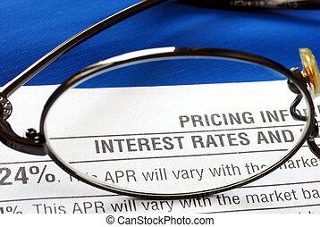 Concéntrate en la tasa de interés