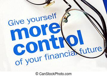 Concéntrate y toma el control de tu futuro financiero