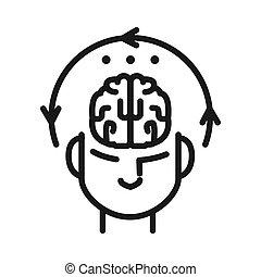 concentración, diseño, mental, ilustración