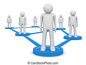 concept., gente, isolated., conectado, social, series., pedestales, red, posición, 1000+, caracteres, lines., uno