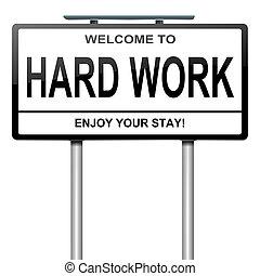 concept., trabajo, duro