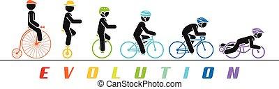 Conceptar ilustración de la bicicleta que desarrolla el tiempo del abrevadero