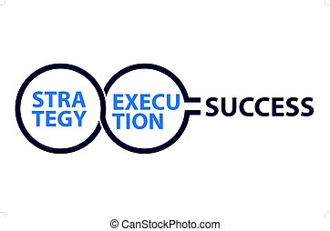 Conceptar la estrategia de ilustración de la ejecución al éxito