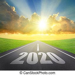 concepto, año, nuevo, 2020