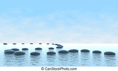Concepto armónico. Patrón de burbujas en el agua