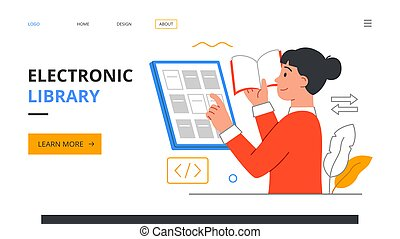 concepto, biblioteca electrónica