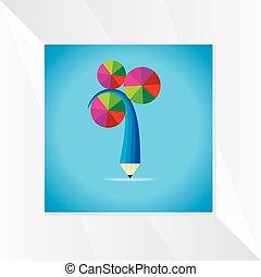 Concepto con lápiz creativo