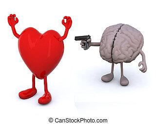 concepto, conflicto, sentimientos