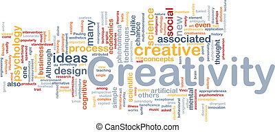 concepto, creatividad, plano de fondo, creativo