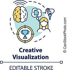 concepto, creativo, icono, visualización