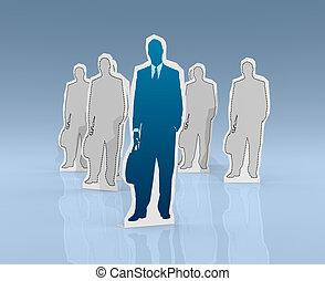 Concepto de éxito y líder