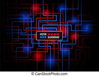 Concepto de alta tecnología contra fondo oscuro