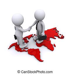 Concepto de asociación global