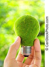 Concepto de bombillas ecológicas
