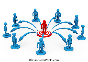 Concepto de comunicación comercial