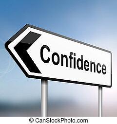 Concepto de confianza.