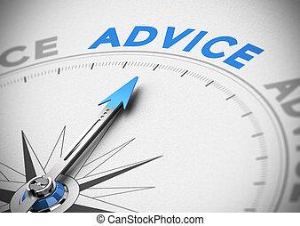 Concepto de consejos de negocios