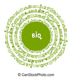 Concepto de ecología verde, marco para tu diseño