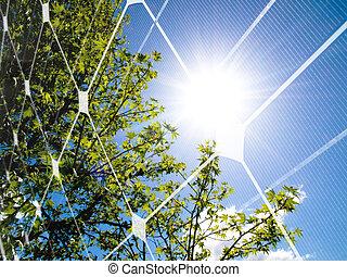Concepto de energía solar