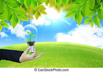 Concepto de energía verde
