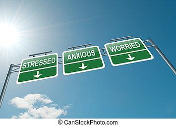 Concepto de estrés.