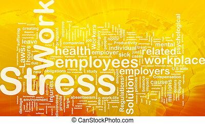 Concepto de estrés laboral