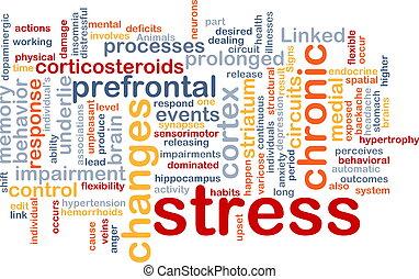 Concepto de estrés mental
