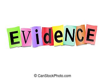 Concepto de evidencia.
