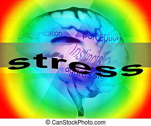 Concepto de fondo de estrés