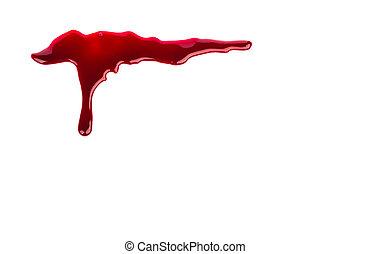 Concepto de Halloween: sangre goteando